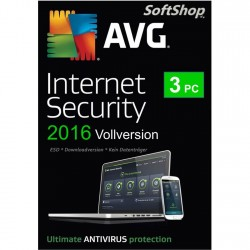 AVG Internet Security 2016 [3 PC, Download]