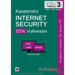 Kaspersky Internet Security 2016 [3 PC, Download]