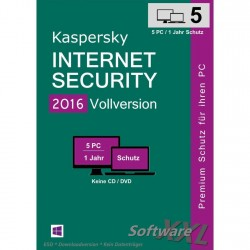 Kaspersky Internet Security 2016 [5 PC, Download]