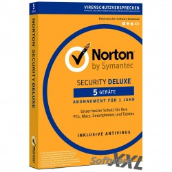 Norton Security Deluxe v3.0 [5 PC/Geräte, Download]